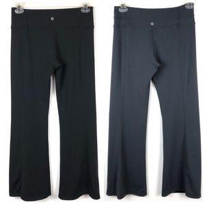 Lululemon Black Gray Reversible Flare Pants 8